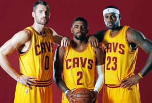 Kevin Love, Kyrie Irving and Lebron James, the new Big 3 in the NBA.